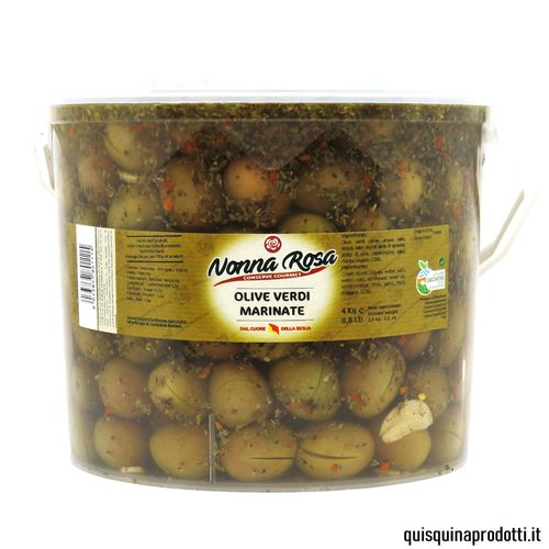 Marinated Green Olives 2,5 kg drained