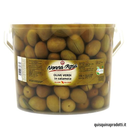Green Olives in Brine 2,5 kg drained