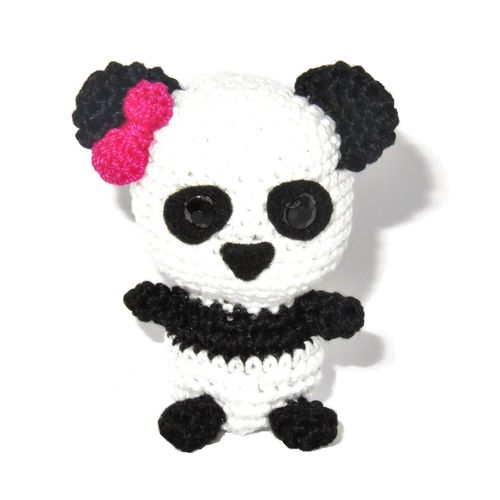 Panda with Pink Bow