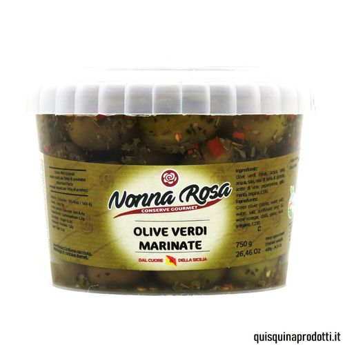 Marinated Green Olives 400 g drained