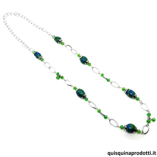 Cold Ceramic Green Necklace